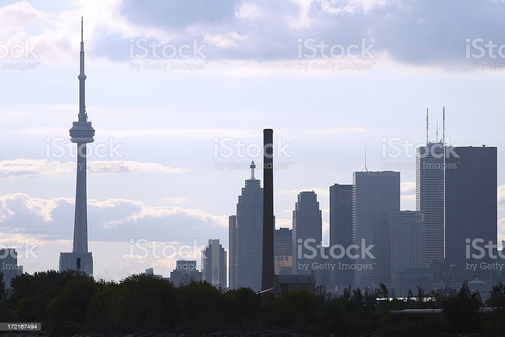 Toronto Skyline From East End royalty-free stock photo