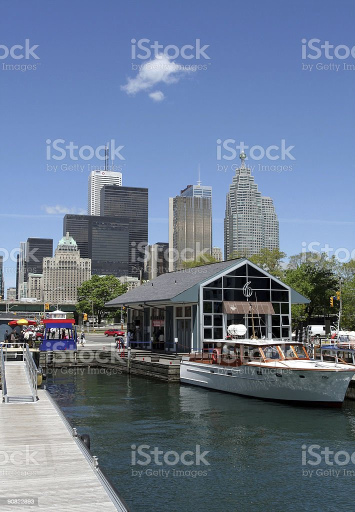 Toronto skyline from harborfront royalty-free stock photo