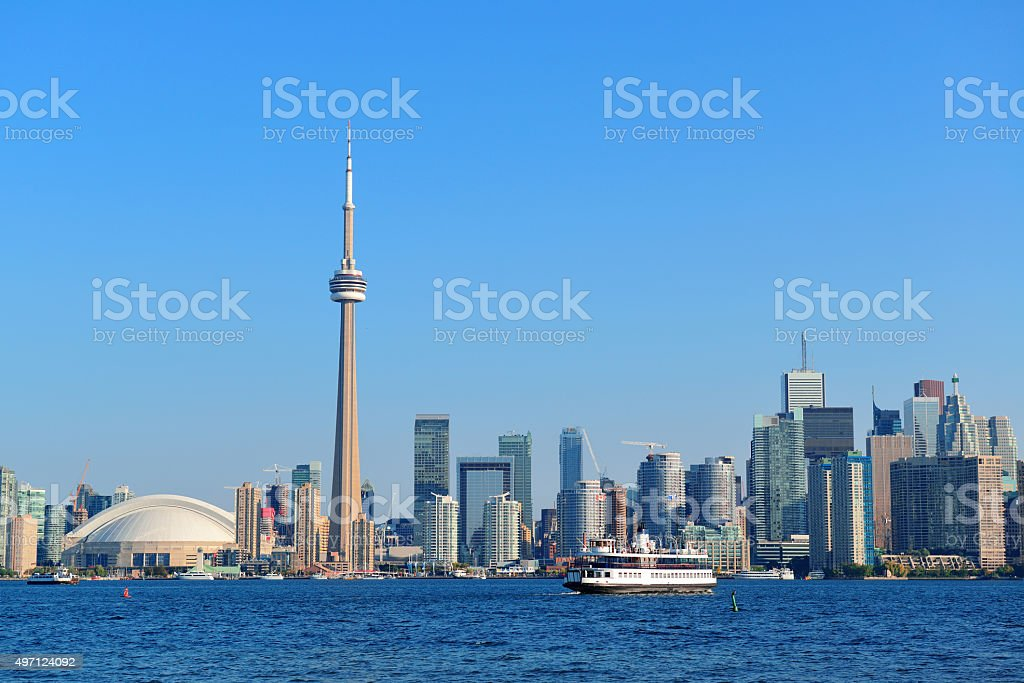 Toronto skyline in the day stock photo