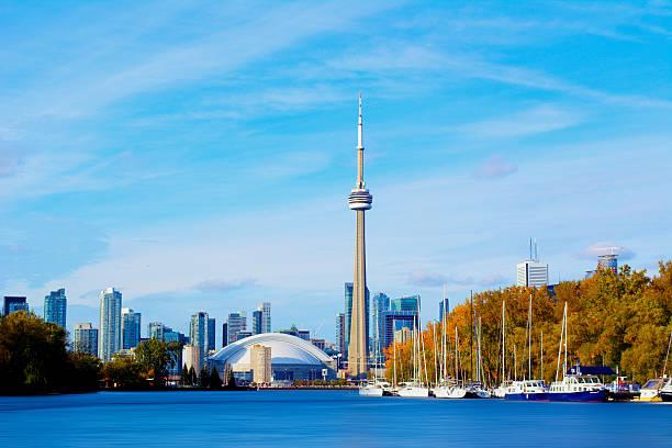 토론토 스카이라인 - 토론토 온타리오 뉴스 사진 이미지