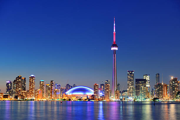 toronto skyline - canada stock photos and pictures