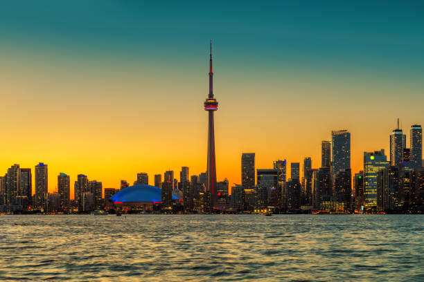 Toronto skyline, Vintage stock photo