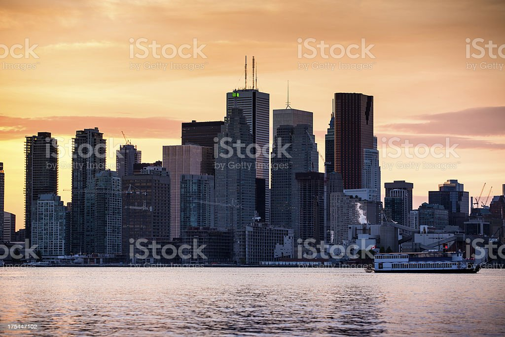 Toronto Skyscrapers by Sunset royalty-free stock photo