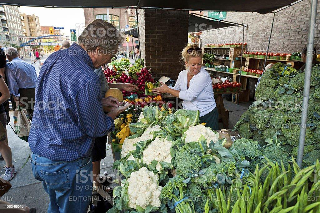 Toronto St Lawrence Market fresh vegetable stall Canada royalty-free stock photo
