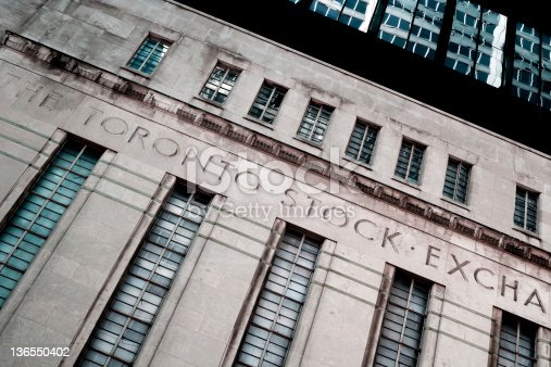 istock Toronto stock exchange (Down) 136550402