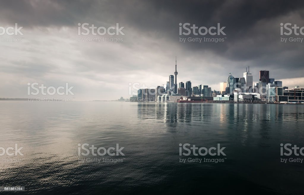 Toronto Storm Skyline stock photo