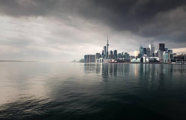 toronto storm skyline - toronto stock pictures, royalty-free photos & images