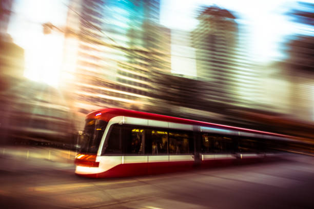 toronto streetcar - public transportation - toronto streetcar stock photos and pictures