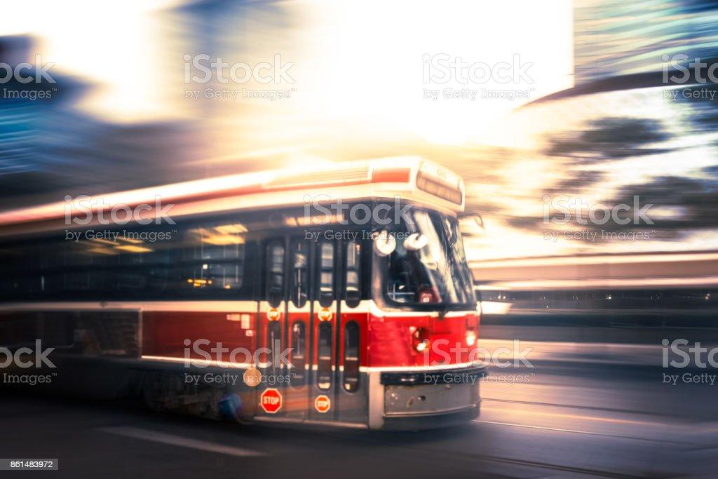Toronto Streetcar - Public Transportation stock photo