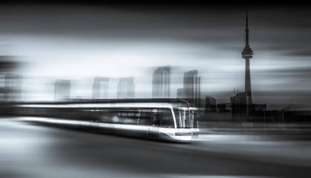 toronto streetcar public transportation - toronto streetcar stock photos and pictures