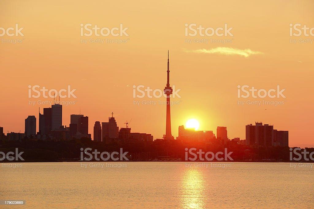 Toronto sunrise stock photo
