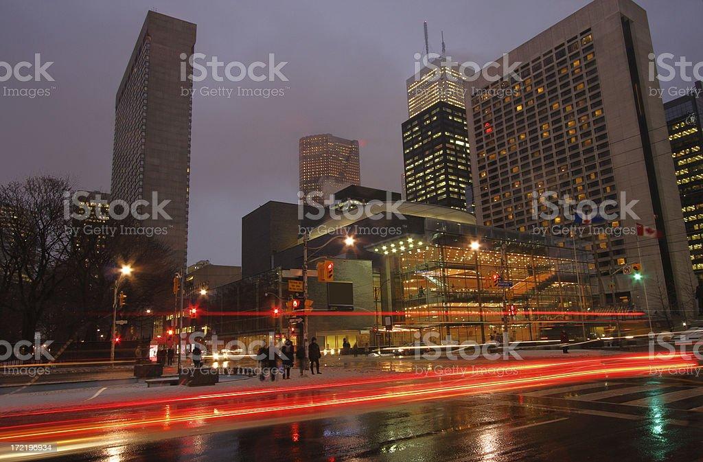 Toronto University Avenue and Opera House royalty-free stock photo