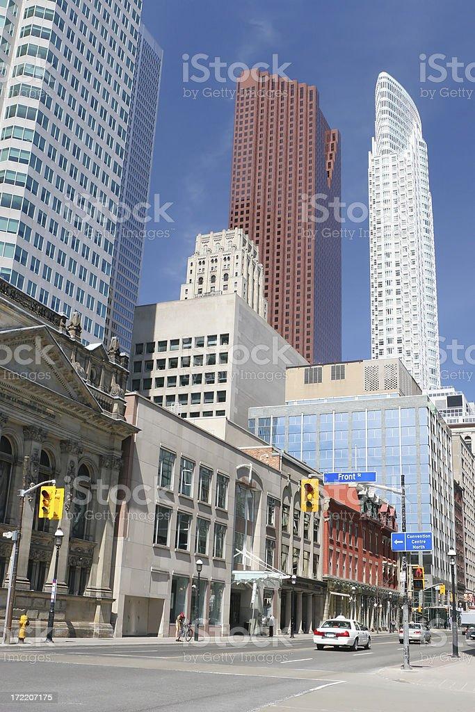 Toronto Urban Avenue royalty-free stock photo