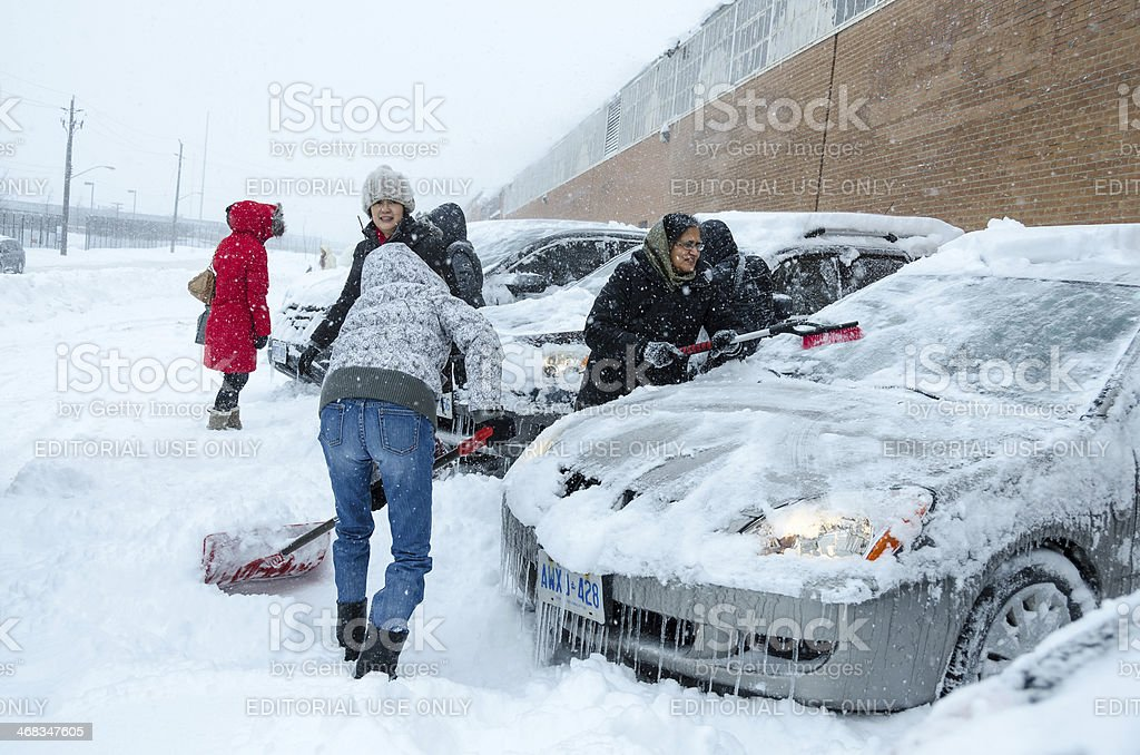Toronto Winter Blast royalty-free stock photo