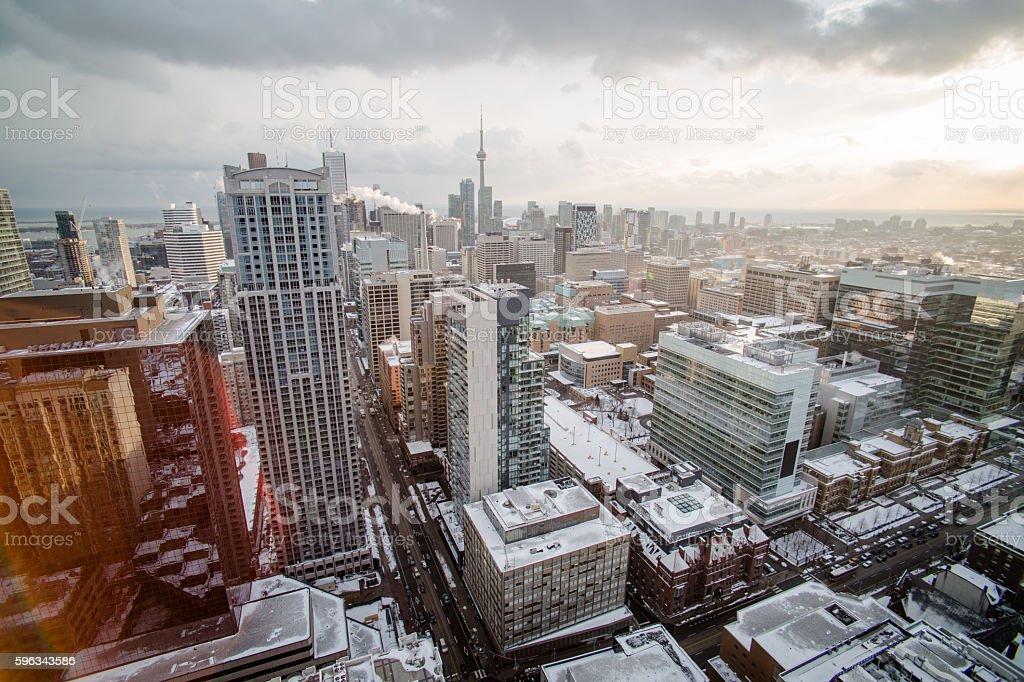 toronto winter sunrise Lizenzfreies stock-foto