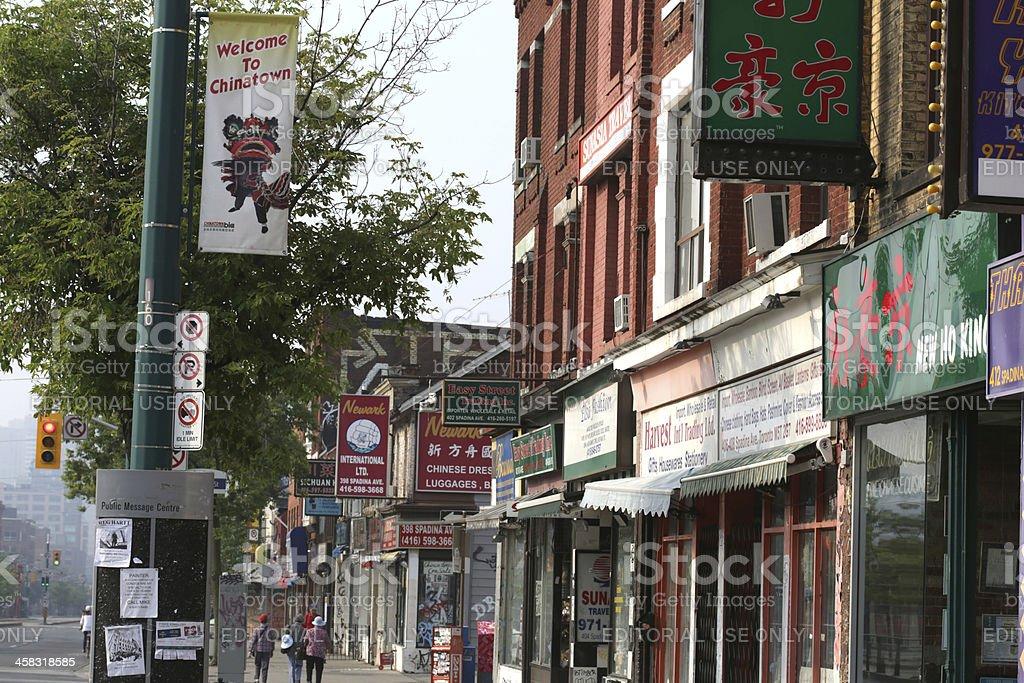 Toronto's Chinatown on Spadina Avenue in Ontario, Canada stock photo
