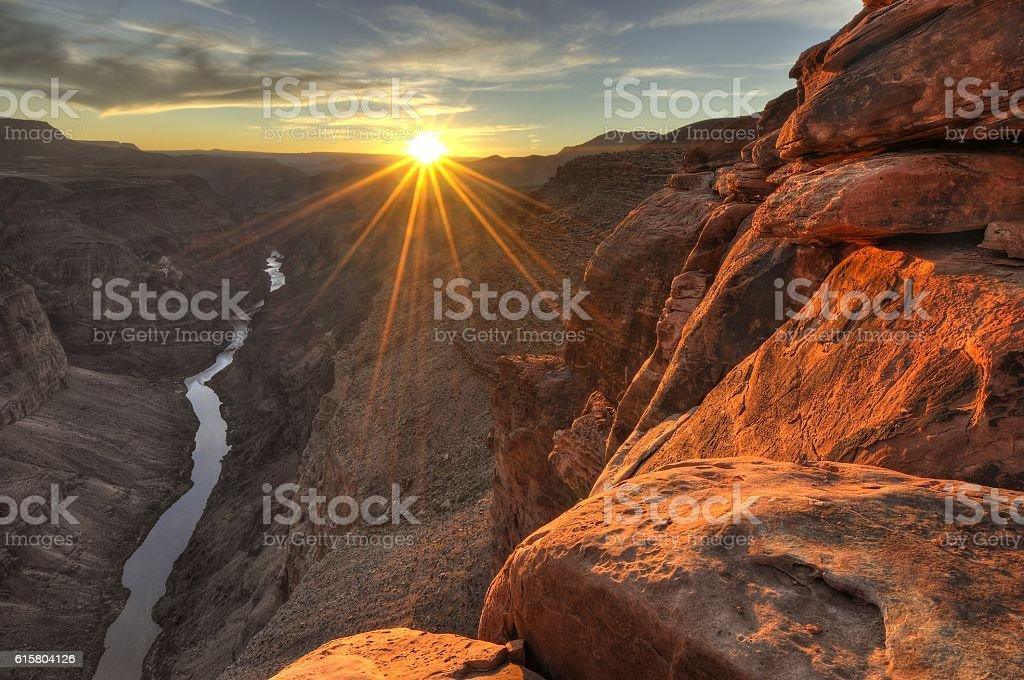 Toroweap (Sunset) royalty-free stock photo