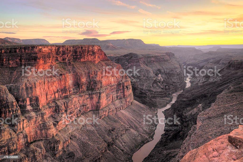 Toroweap Point Sunset, Grand Canyon National Park stock photo