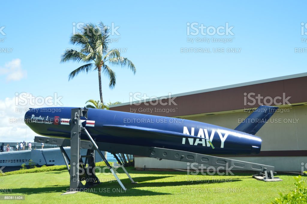 Torpedo Of The US Navy At The Memorial USS Arizona. stock photo