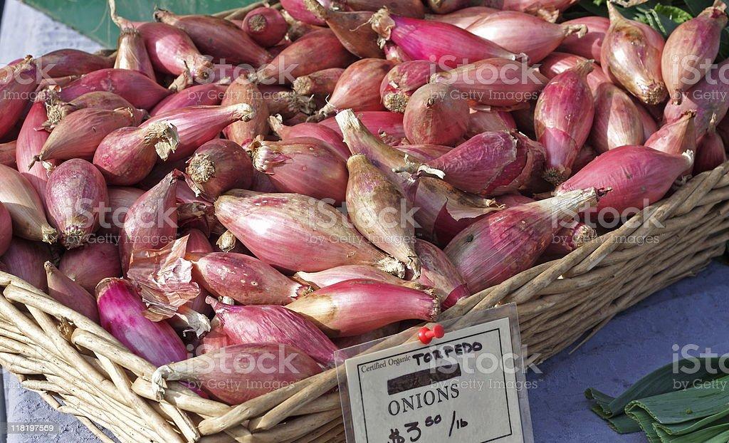 Torpedo Onions stock photo