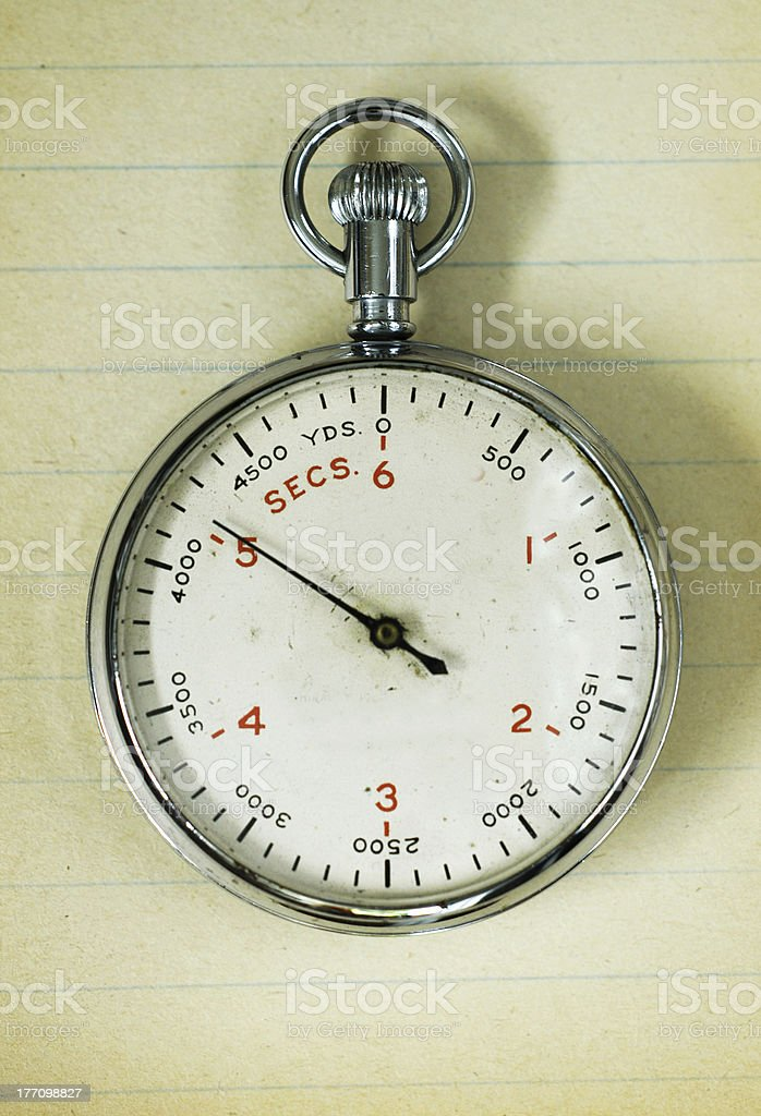 Torpedo stopwatch stock photo