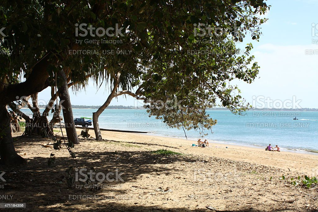 Torquay Beach Scene, Hervey Bay stock photo