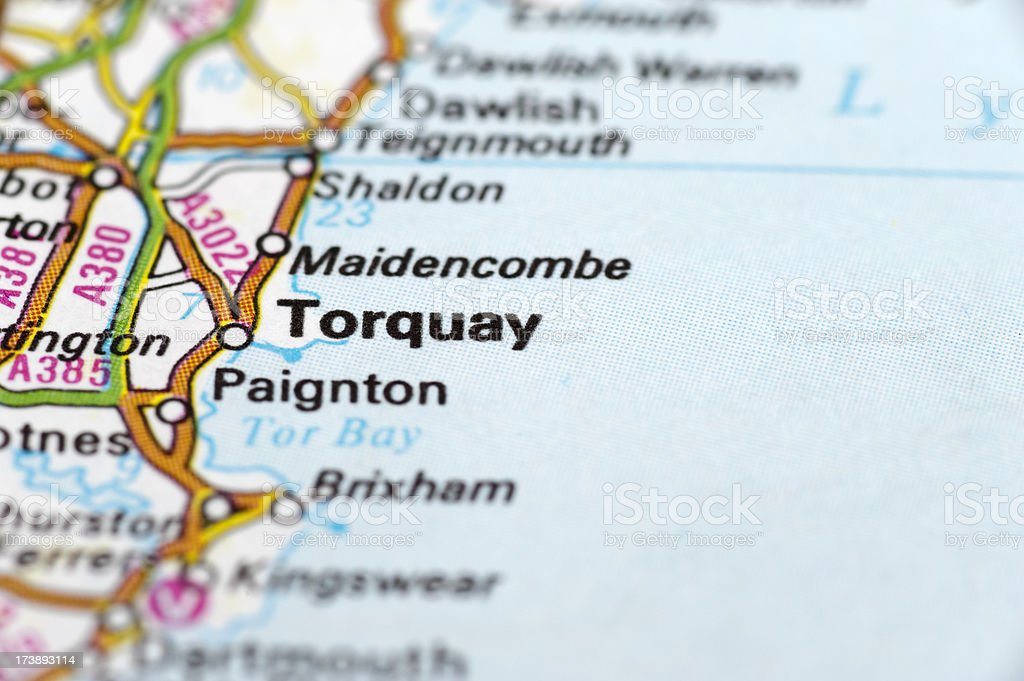 Torquay England Map.Torquay England Stock Photo Istock