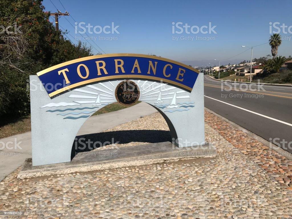 Torrance Sign Los Angeles California stock photo