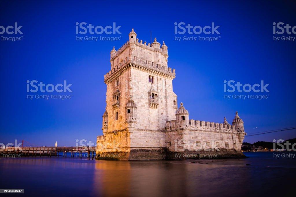 Torre Belem, Belem Tower in Lisbon, Portugal stock photo