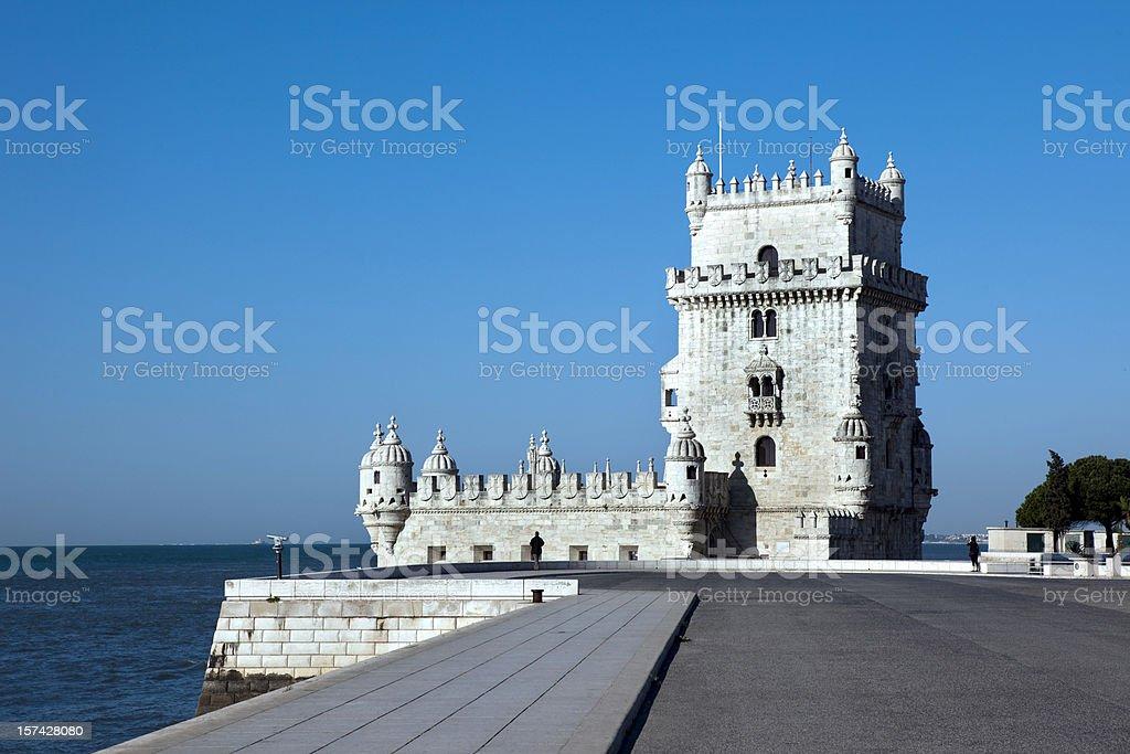 Torre de Belem in Lisbon royalty-free stock photo
