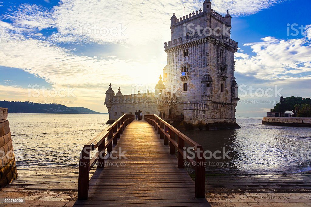 Torre de Belem - Lisbon , Portugal stock photo