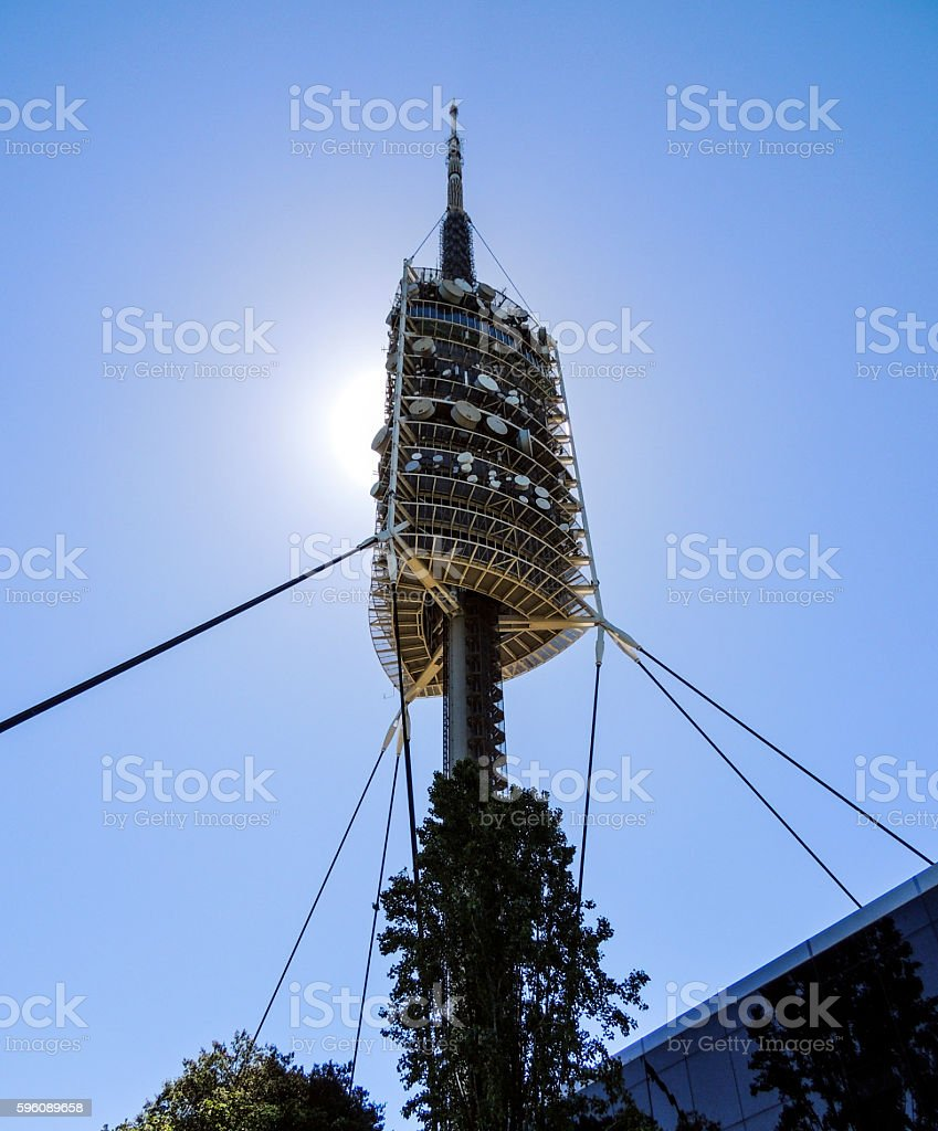 Torre de Collserola, television and observation tower, Tibidabo hill, Barcelona royalty-free stock photo
