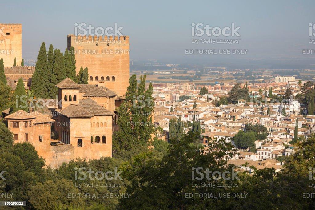 Torre de Las Damas, Alhambra stock photo