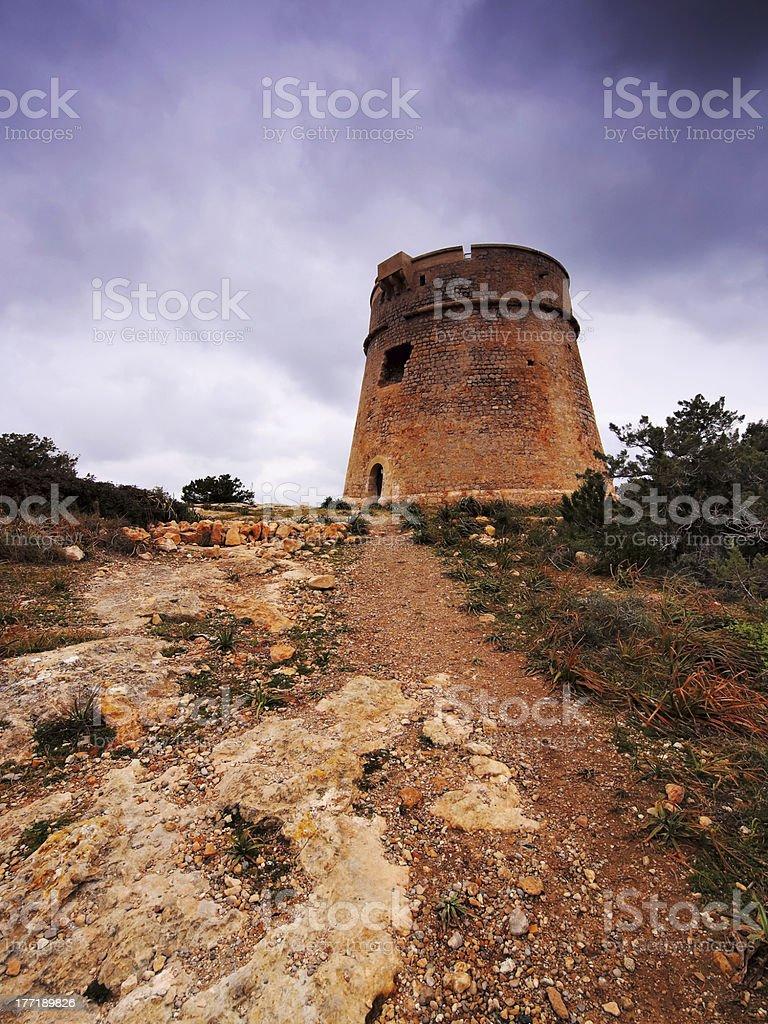 Torre de sa Sal Rossa, Ibiza stock photo