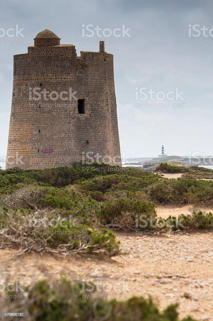 Torre de Ses Portes stock photo
