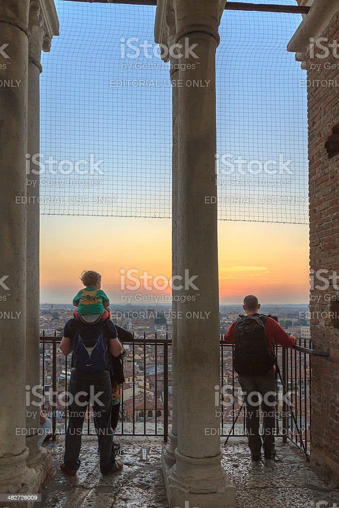 Torre dei Lamberti, Verona royalty-free stock photo