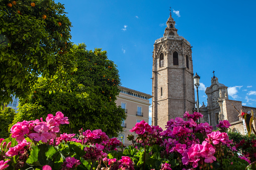 Torre del Micalet, also known as El Miguelete, the Bell Tower of Valencia Cathedral