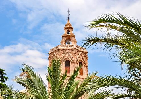 Torre del Miguelete tower in Valencia, Spain