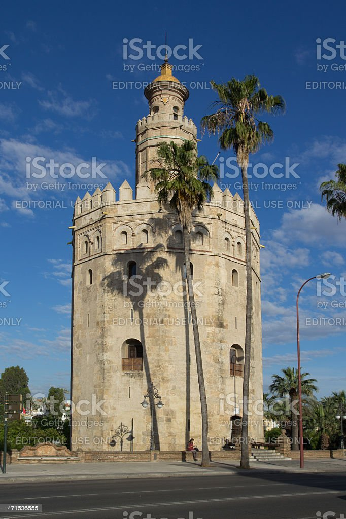 Torre del Oro (Gold Tower) royalty-free stock photo