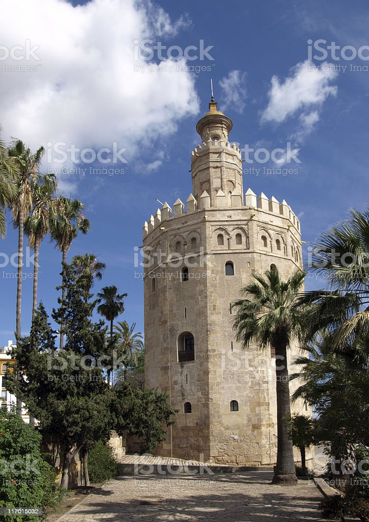 Torre del Oro, Seville royalty-free stock photo