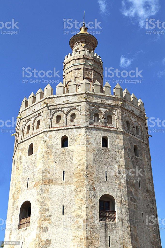 Torre del Oro, Seville, Spain royalty-free stock photo