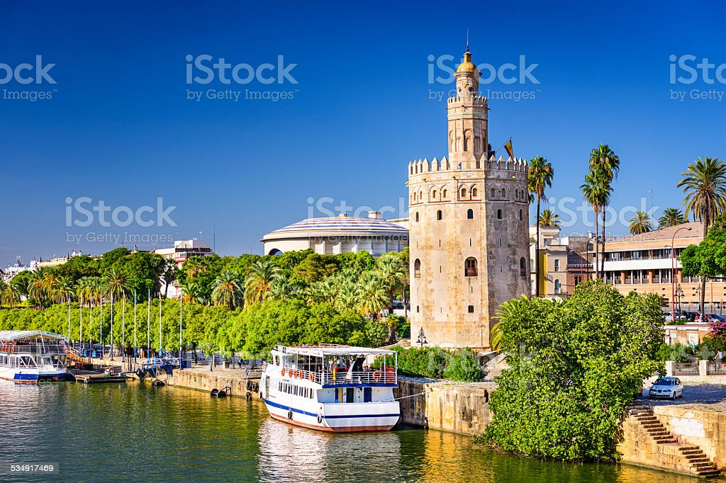 Torre del Oro Tower of Seville stock photo