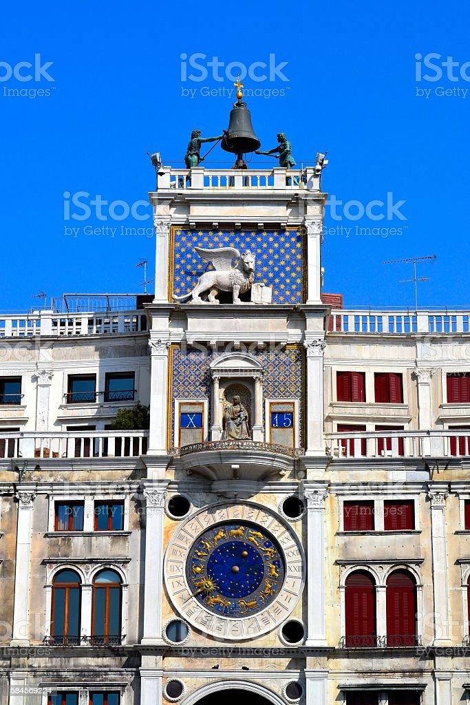 Torre dell'Orologio, Venice stock photo