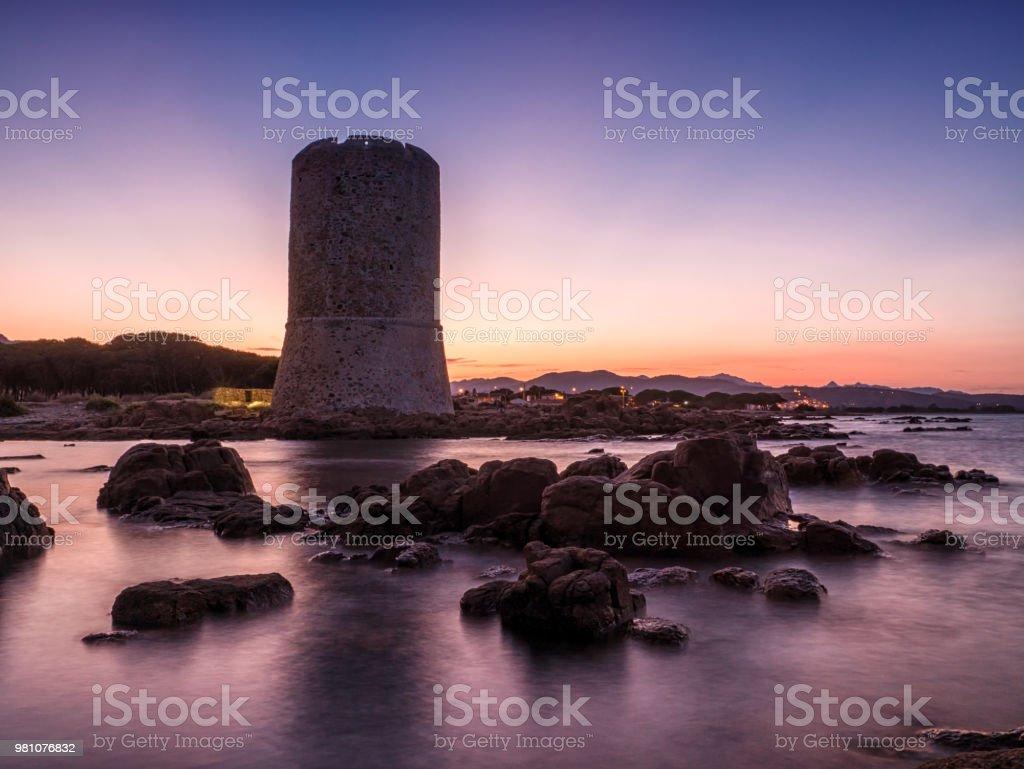 Torre di San Giovanni di Posada, Sardinia, Italy stock photo