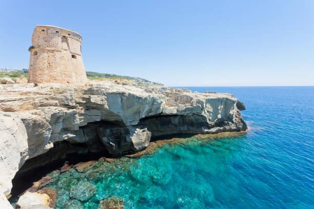 Torre sterben Miggiano, Apulien - schwimmen an der Verteidigung Turm Miggiano – Foto