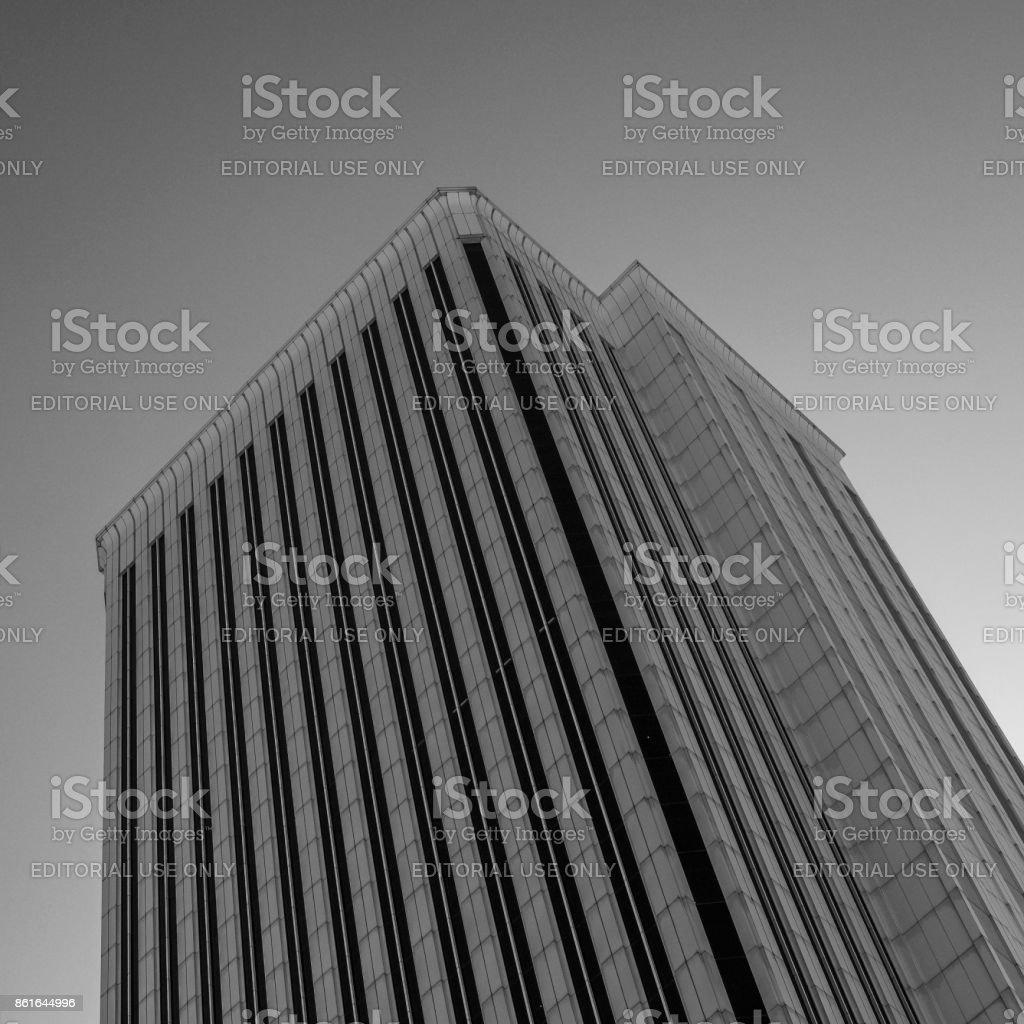 Torre Picasso, architect Minoru Yamasaki, Madrid stock photo