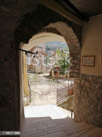 Torrecuso, Campania, Italy - 13 June 2019: Glimpse through the alleys of the historic center