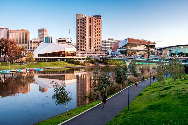 Torrens river bank in Adelaide – Foto