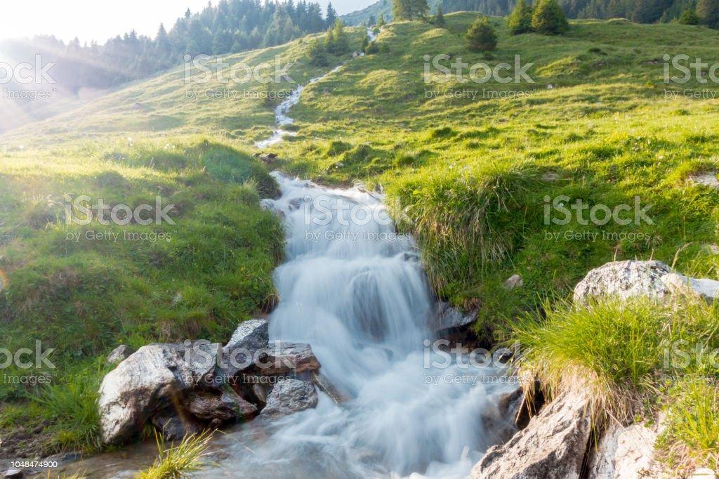 Strom durch eine bergwiese in Tirol Österreich – Foto