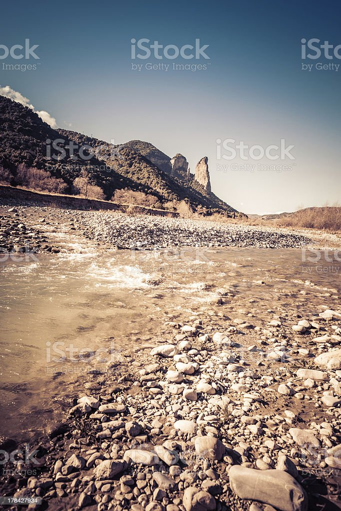 Torrent with pebbles royalty-free stock photo